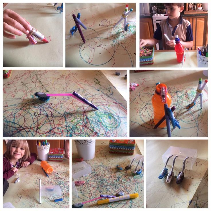 Activity 47. We had lots of fun experimenting with drawing with the aid of hex bugs.