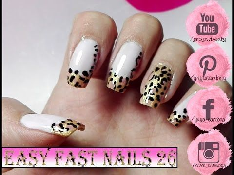 easy nails, animal print nails