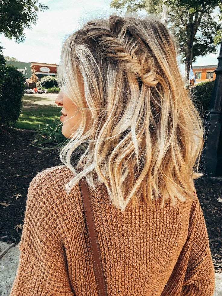 Messy Waves with a Fishtail Braid | Little Blonde Book A Fashion Blog by Taylor …
