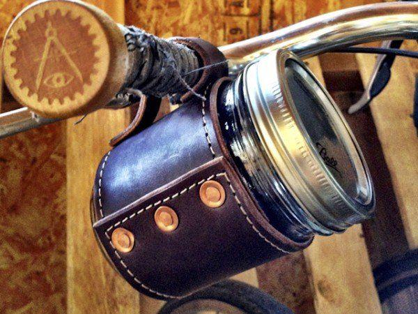 Holdster USA - Model 02: Rivet with Handle, Mason Jar Drinking Glasses