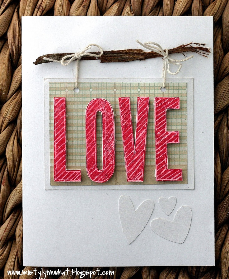 Li'l Buck's Creations: Rustic Wood LOVE Valentine's Day Card