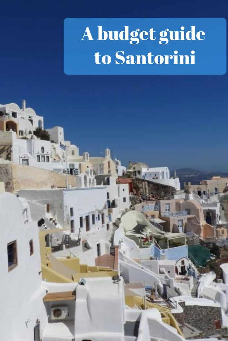 Amazing scenes in Oia, Santorini. Lovely blue sky and the perfect white houses absolutely makes this place a must see
