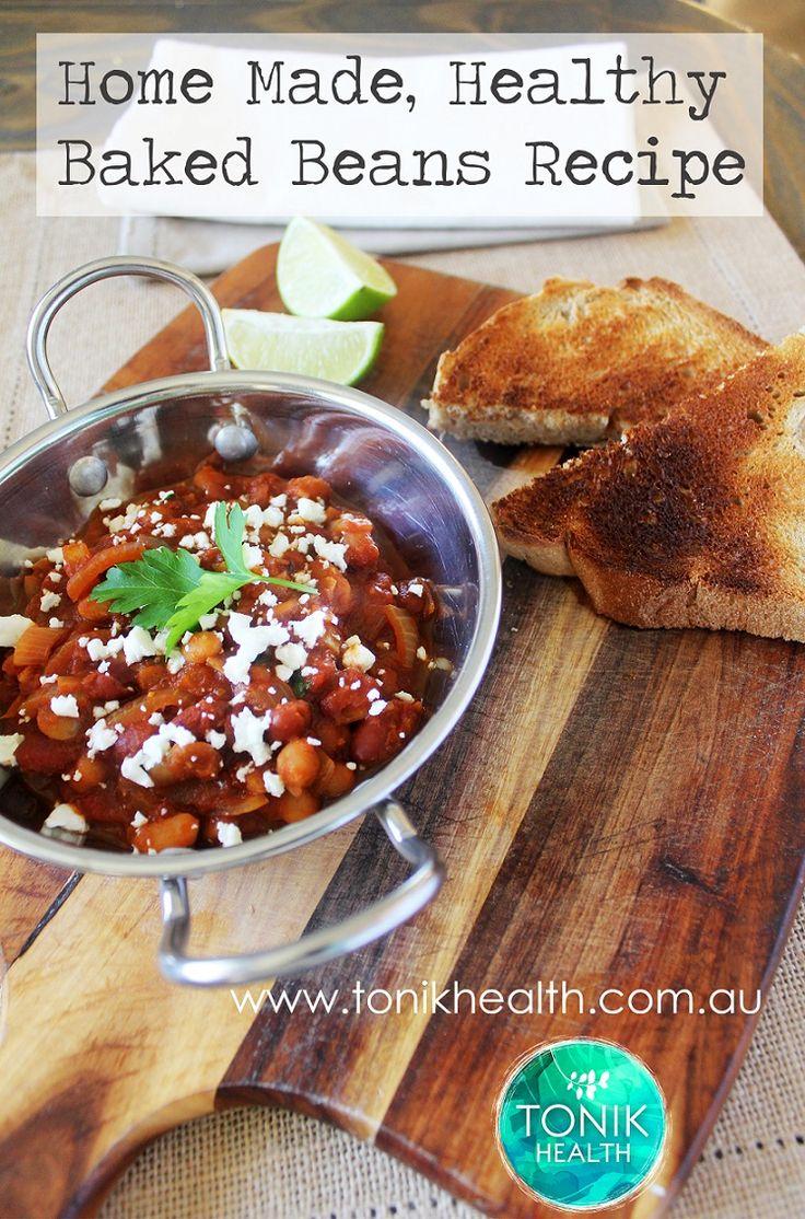 Healthy baked beans recipe!  www.tonikhealth.com.au/recipes  #recipe #vegetarian #healthy