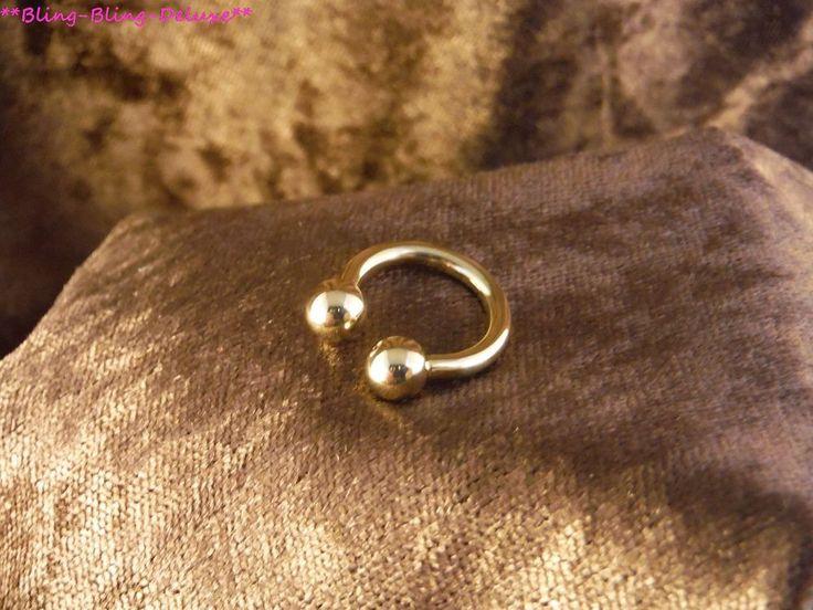 Piercing 24 Karat Gold Hufeisen Augenbrauen Lippenpiercing Ohr Septum Edelstahl