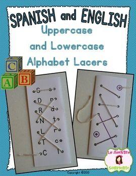 Alphabet Lacers Uppercase To Lowercase Matching Spanish