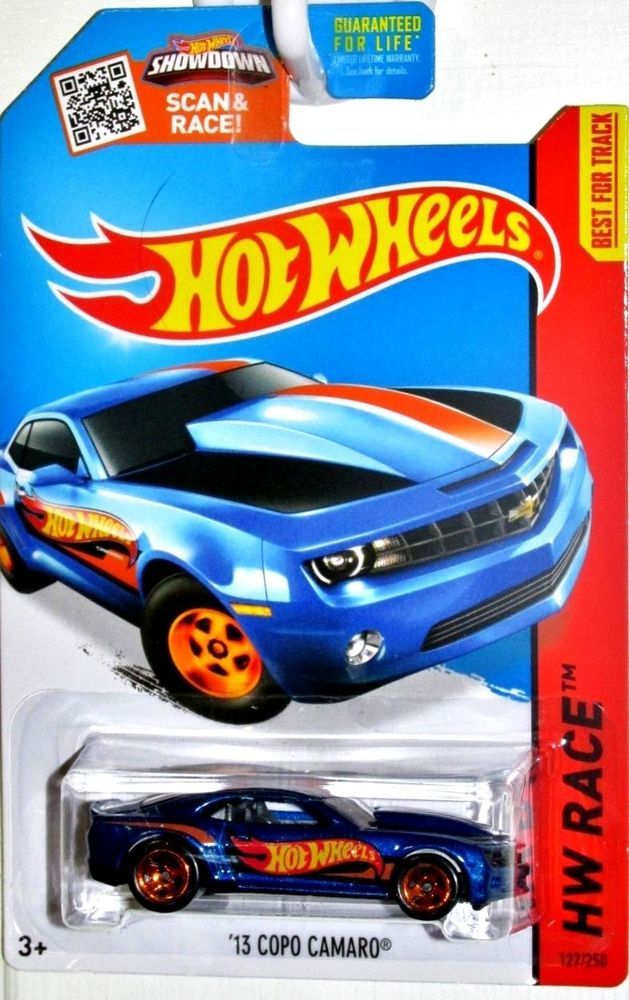 2013 Chevy COPO Camaro Hot Wheels 2015 HW RACE TEAM #229/250 Blue #HotWheels #Chevrolet
