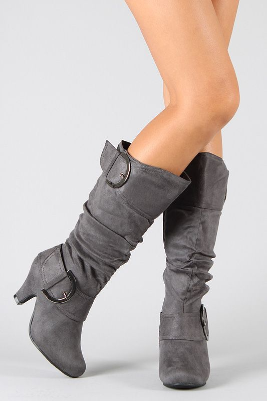 $29.80 Suede Buckle Knee High Boot  I like what I have seen on this site!