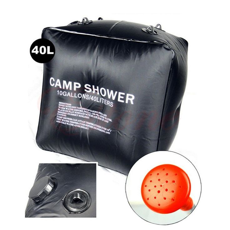 This solar camp shower lets you and your family clean up in the outdoors. Design lets you hang shower bag. The temperature of water can change from 15.5 degrees to 40.5 degrees when heating three hour