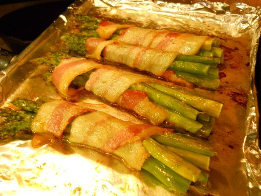 Almost too pretty to eat! Bacon Wrapped Asparagus