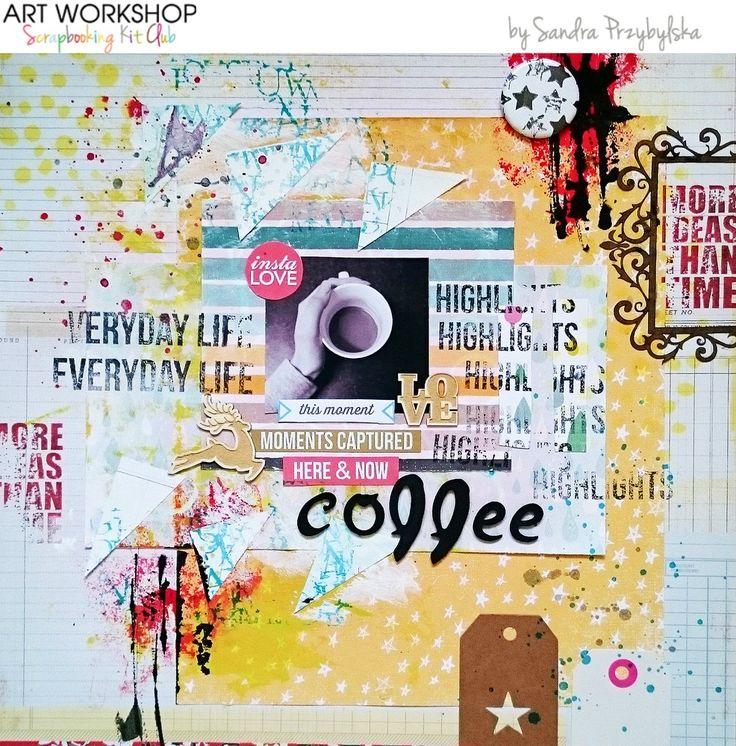 Art Workshop Kit Club November 2014 Scrap Main Kit by Sandra Przybylska