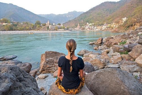 Yoga & Meditation in Rishikesh, India.
