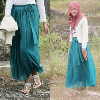 Heart Notes Rainbow: Dress and Casual hijab Style