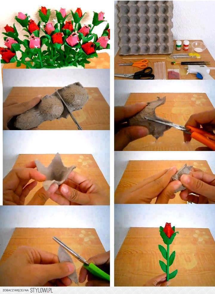 DIY Egg Carton Roses DIY Projects   UsefulDIY.com na Stylowi.pl