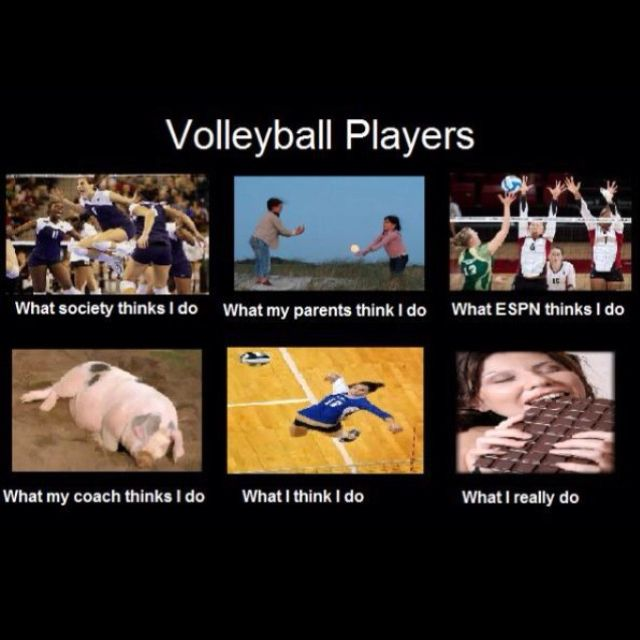 Volleyball players...