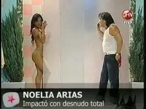 Noelia Arias impacta con desnudo total en televisión