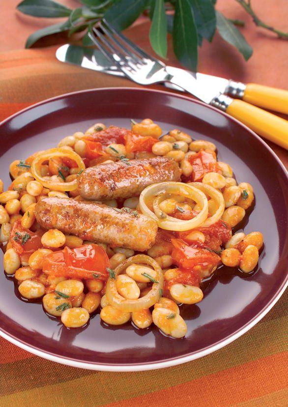 Cassoulet-Style Sausage 'n' Beans Recipe — Dishmaps