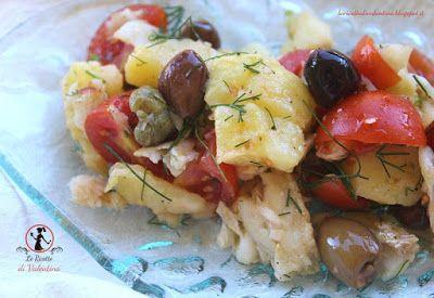 Le Ricette di Valentina: Insalata di merluzzo mediterranea (cotture con fri...