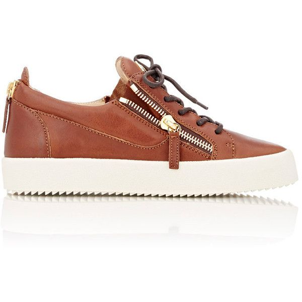 Giuseppe Zanotti Men's Double-Zip Sneakers ($665) ❤ liked on Polyvore featuring men's fashion, men's shoes, men's sneakers, brown, mens brown shoes, giuseppe zanotti mens sneakers, mens low tops, mens brown leather sneakers and mens sneakers