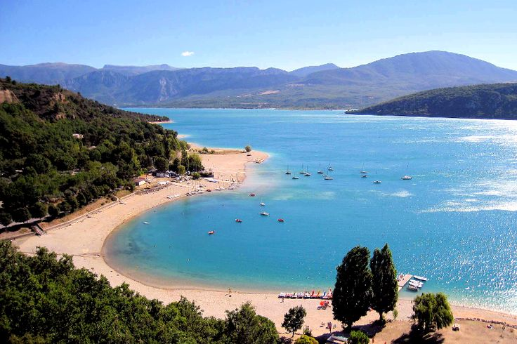 lake of sainte-croix, verdon gorge, france