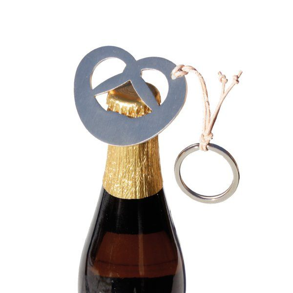 """Beer pretzel – a bottle opener not only for beer and not only for the """"Oktoberfest"""". Smart and functional also as a keyring. Goes well with bags, Bavarian """"dirndl"""" dresses and leather trousers. #designimdorf"""