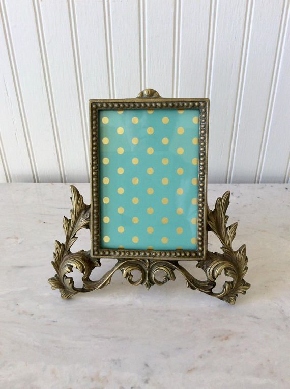vintage ornate brass picture frame easel frame french country