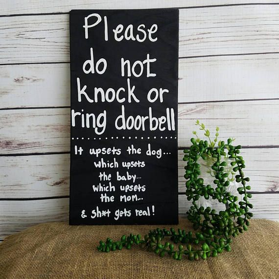 Do not knock sign Sleeping baby sign new mom gift baby shower gift No Solicitation Do not disturb Door Sign No Soliciting Sign by ThePeculiarPelican #etsyseller #etsyshop #woodensigns #customsigns #shopsmall #shopping #gifts #giftideas #porchsigns #weddingsigns #southernsigns #quotes #handmade #handpainted #signs http://ift.tt/2nwoe9X