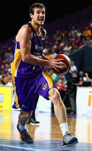 The Sydney Kings' Ben Madgen in action playing in the Australian National Basketball League (NBL)