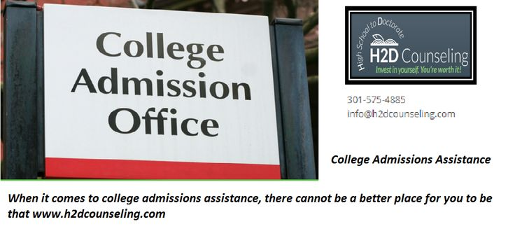 When it comes to college admissions assistance, there cannot be a better place for you to be that https://h2dcounseling.com/.