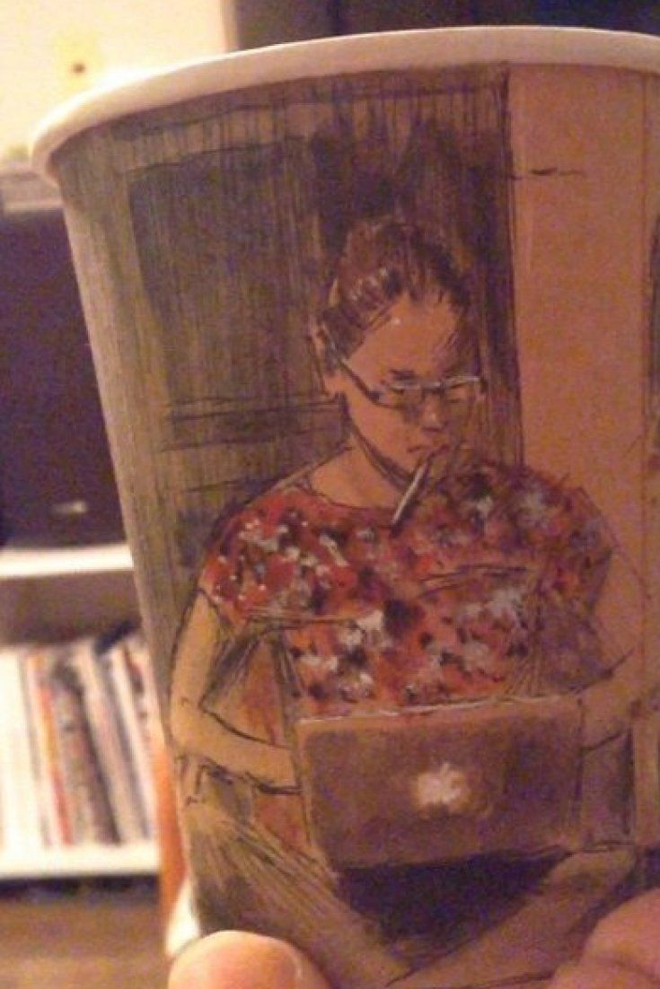 This Guy's Panoramic Drawings On Coffee Cups Are So Much Better Than Latte Art