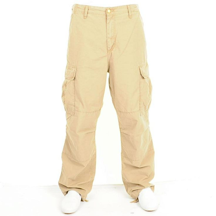 Carhartt Cargo Pants Stone Washed Leather Beige