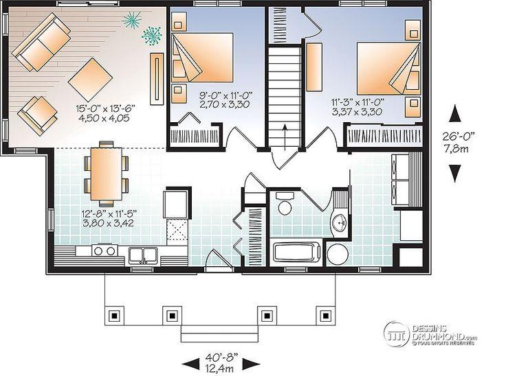 plan de maison 26 x 30