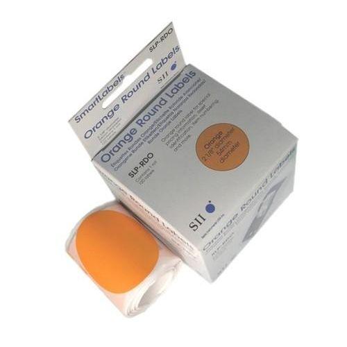 Seiko SLP-RDO ronde etiketten oranje 54 mm diameter (120 etiketten)  |  De Seiko SLP-RDO ronde etiketten met 54 mm diameter zijn ideaal voor het creëren van o.a. prijs- en productlabels. De ronde oranje etiketten zijn geschikt voor het thermisch bedrukken met uw Seiko Smart Label Printer. De rol bevat 120 labels.
