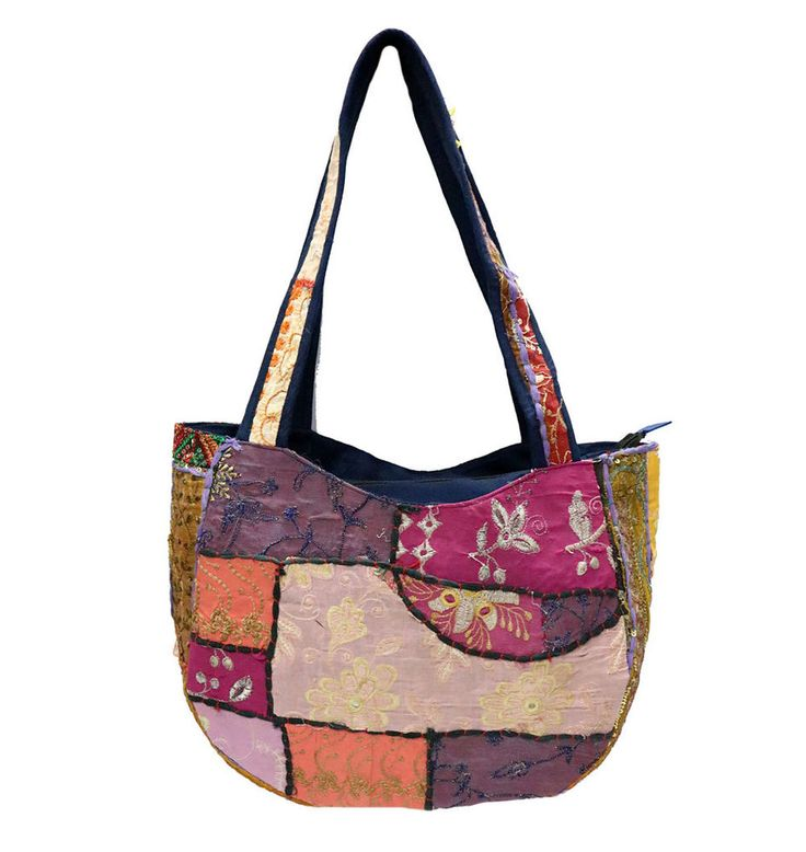 Hippie Indian Multi Patchwork Bags Boho Embroidered Women Shopping Shoulder Bags #Handmade #ShoulderBags