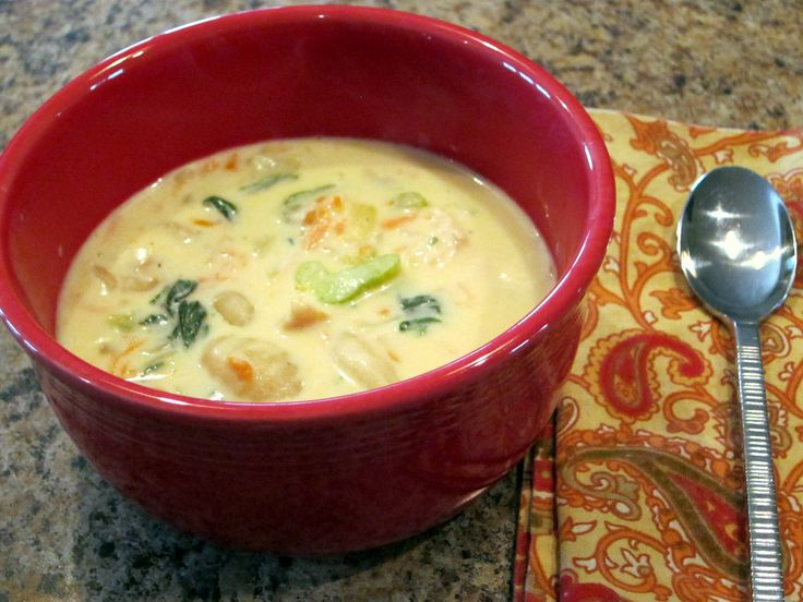 Olive Garden Chicken Gnocci Soup This is my favorite soup there... Can't wait to try it!