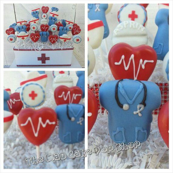 Nurse Cake Pops  24 Pops and Display di TheMaDCakePopShop su Etsy, $134.00