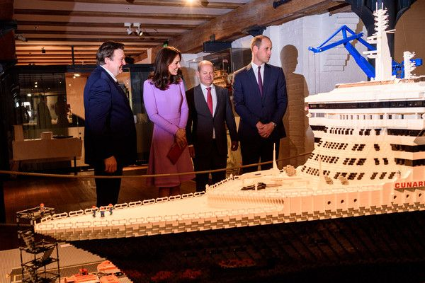 Kate Middleton Photos Photos - First Mayor of Hamburg Olaf Scholz (2nd-R) and Museum director Peter Tamm (L) give Prince William, Duke of Cambridge and Catherine, Duchess of Cambridge a tour of the Internationales Maritimes Museum Hamburg to celebrate the joint UK-German year of science, which for 2017 is focused on oceans, during day three of their official visit to Germany after two days in Poland on July 21, 2017 in Hamburg, Germany. - The Duke and Duchess of Cambridge Visit Germany - Day…