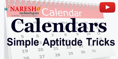 Calendars Aptitude Tricks – Campus Recruitments Training   We are Providing Online Training with Highly Skilled software Professionals. Flexible timings, Limited seats, Step by step and …
