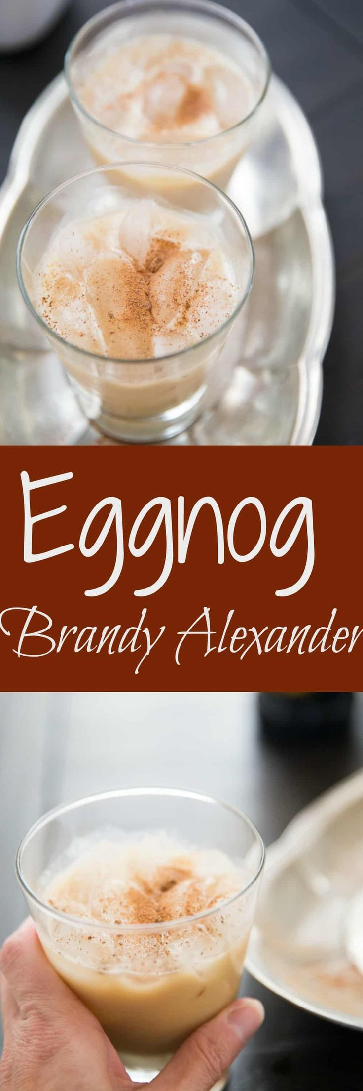 Creamy eggnog makes this brandy alexander recipe perfect for the season.  This cocktail has a little sweet and a little spice in every sip! via @Lemonsforlulu