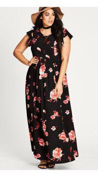Floral Lover Plus Size Maxi Dress