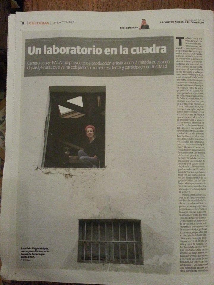 articulo de Paché Merayo publicado en diario El Comercio (Asturias) el pasado 08.03.2014. #Culturas