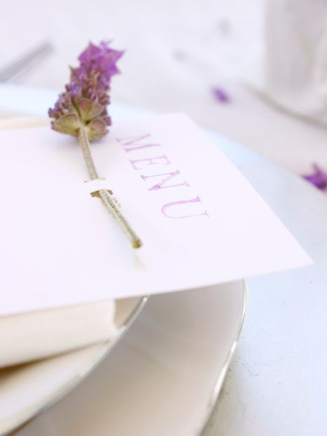 diy lavender menu card