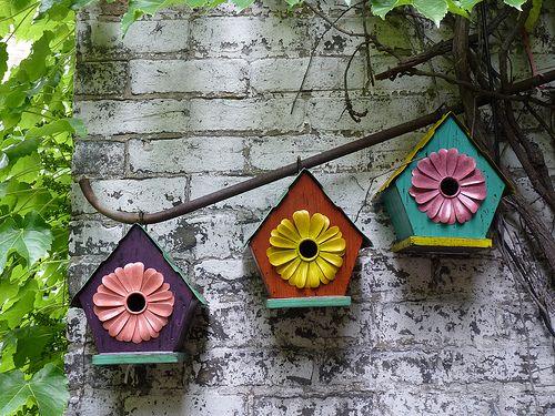Old Town Art Fair, Chicago ~ Garden Walk ~ Birdhouse Trio