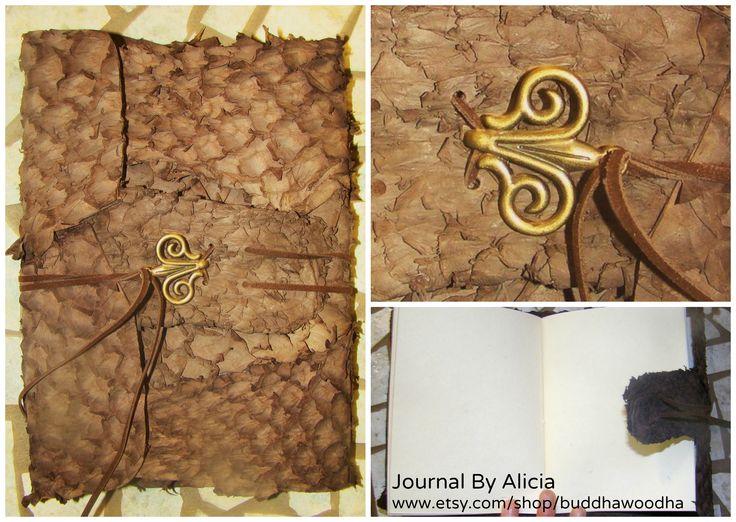 leather covered journal www.etsy.com/shop/buddhawoodha