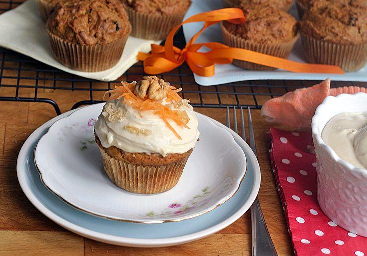 Mrkvový dort jako cupcake