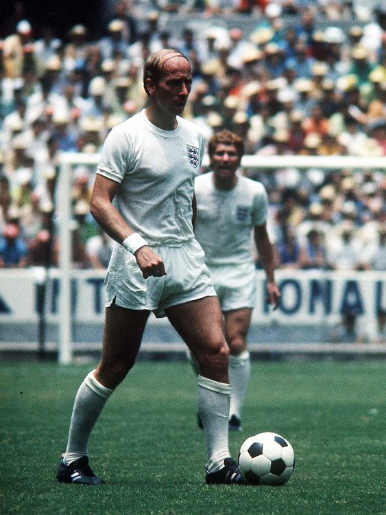 Bobby Charlton of England. Brazil v England, World Cup 1970, Mexico, 7th June 1970.
