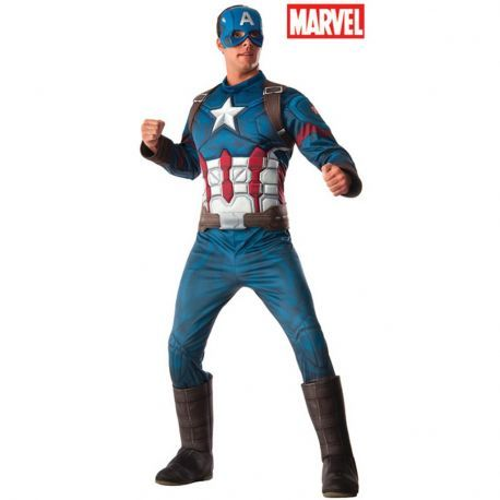 #Disfraz #Capitán América Deluxe CW AD Perfecto para tus fiestas, mercadisfraces tú #tienda de #disfraces #online