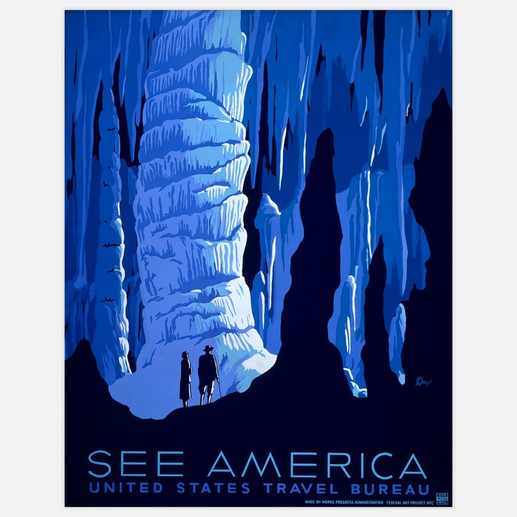 love these vintage See America posters... these would look great on my wall. Fab.com | See America Carlsbad 17x22