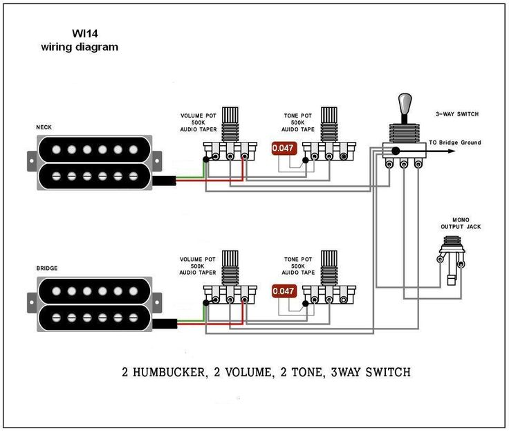 e623a2562f9443792fb096420639da2c guitar lessons les paul electric guitar pot wireing diagram diagram wiring diagrams for 2 Pickup Guitar Wiring at n-0.co