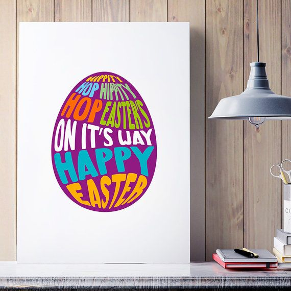 32 best funny posters images on pinterest art decor cat drawing happy easter poster easter egg typographic egg poster illustrationstypography home negle Gallery