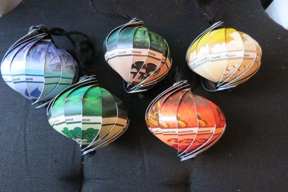 MTG Magic the Gathering Ornaments by QuigleyArts on Etsy, $12.95